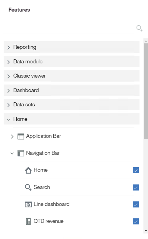 Cognos 10 Portal Tab Features