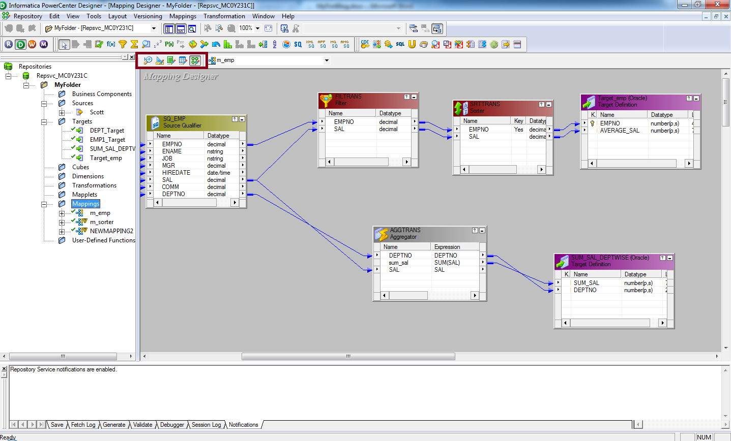 Data modeling in Informatica PowerCenter